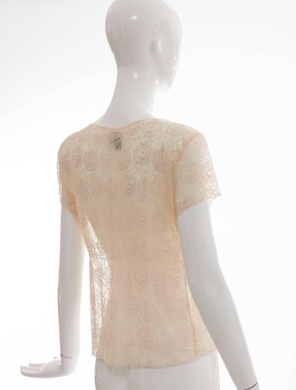 Chanel Lace Top With Embellished Ice Cream Applique, Cruise 2004 For Sale 2