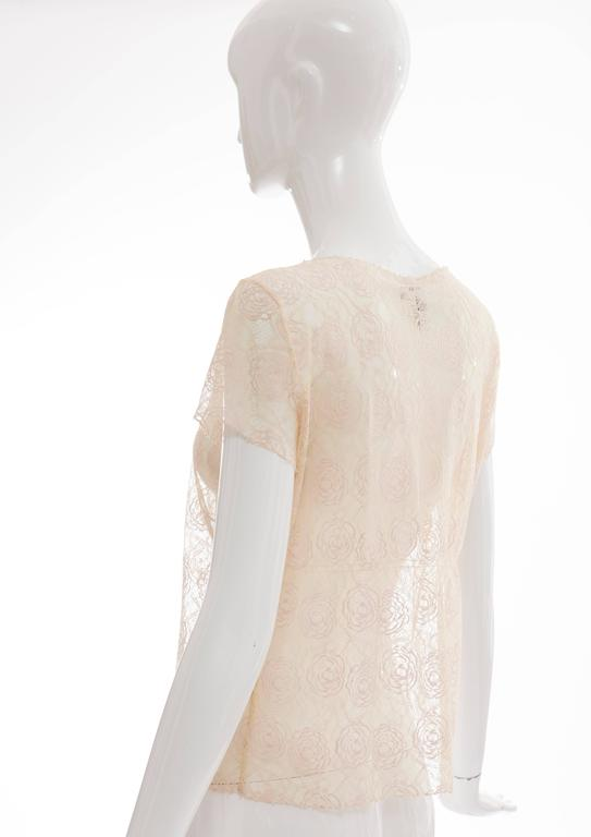 Chanel Lace Top With Embellished Ice Cream Applique, Cruise 2004 For Sale 3