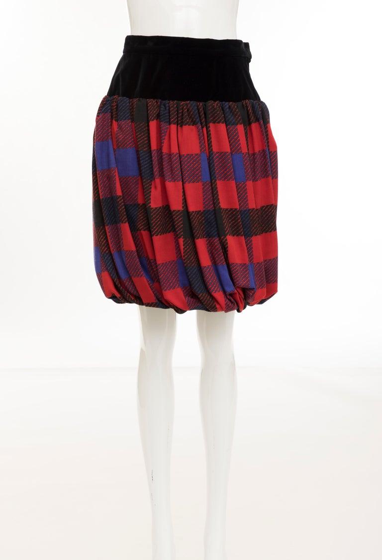 Yves Saint Laurent Rive Gauche Silk Wool Challis Balloon Skirt, Circa 1980s In Excellent Condition For Sale In Cincinnati, OH