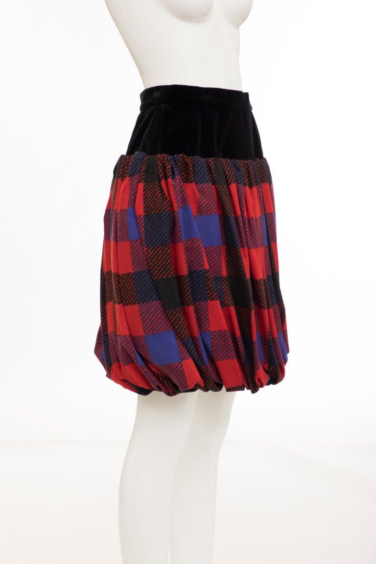 Women's Yves Saint Laurent Rive Gauche Silk Wool Challis Balloon Skirt, Circa 1980s For Sale