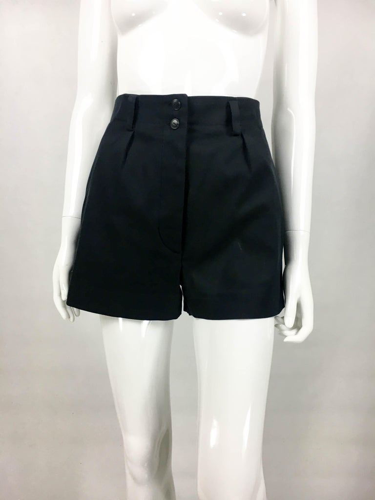 Women's 1990's Azzedine Alaia Black Tailored Shorts For Sale