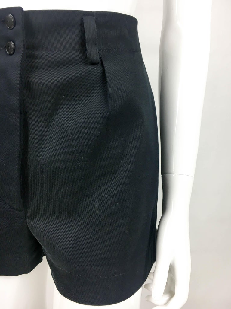 1990's Azzedine Alaia Black Tailored Shorts For Sale 3