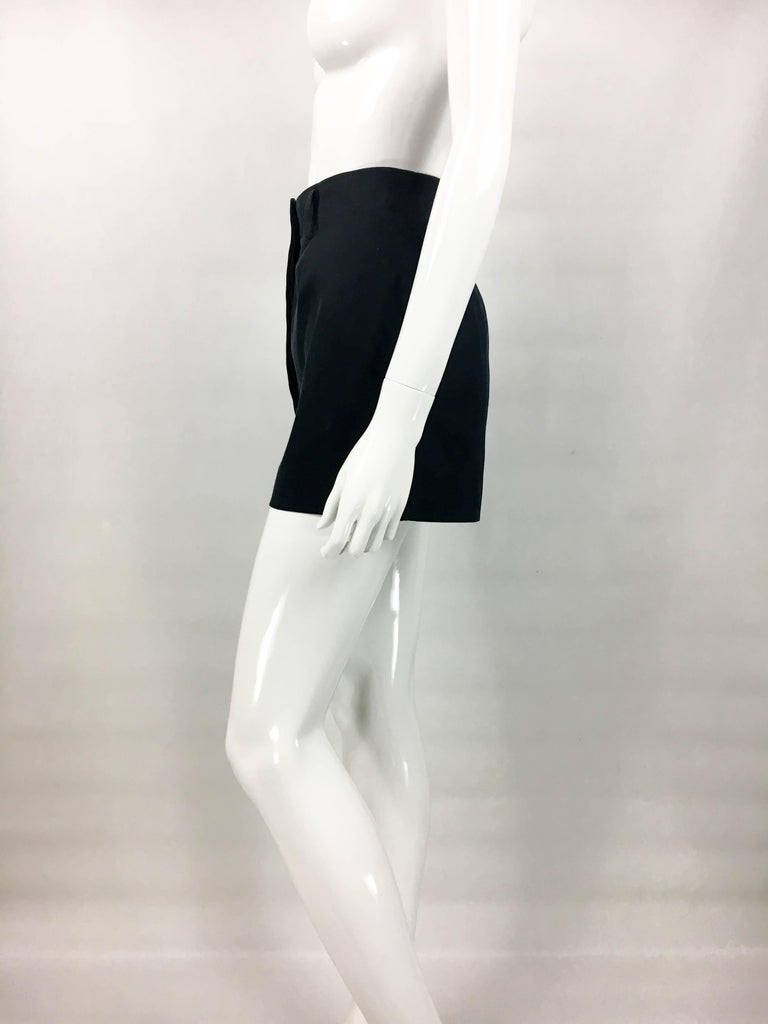 1990's Azzedine Alaia Black Tailored Shorts For Sale 5
