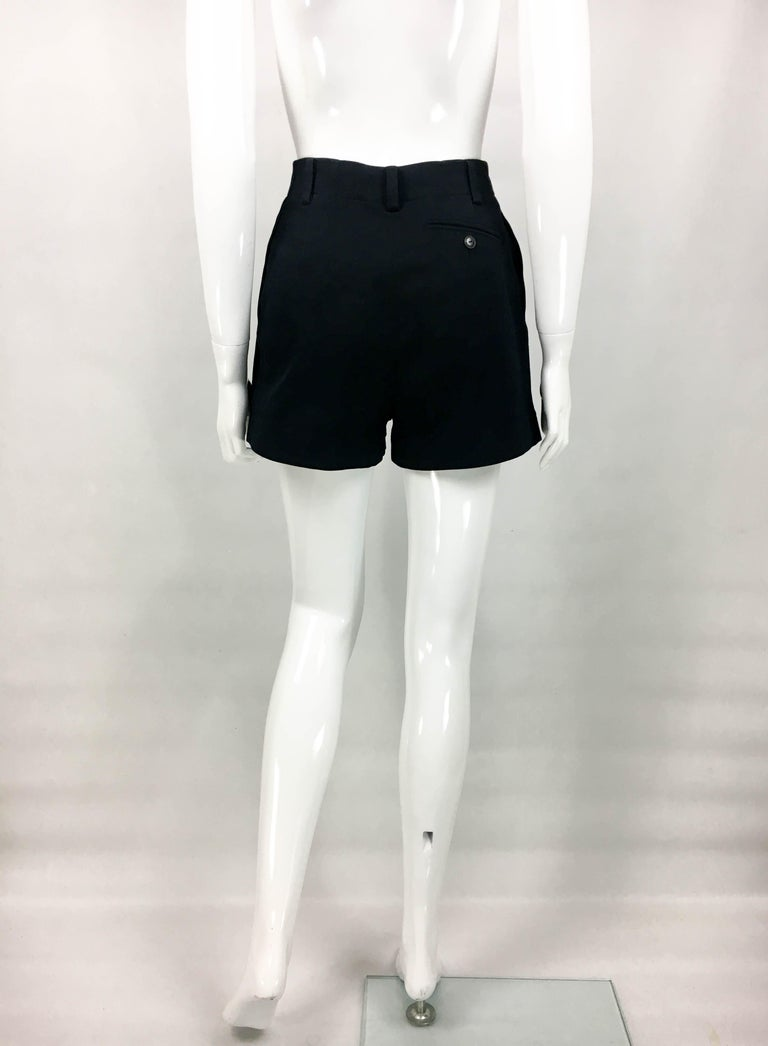 1990's Azzedine Alaia Black Tailored Shorts For Sale 6