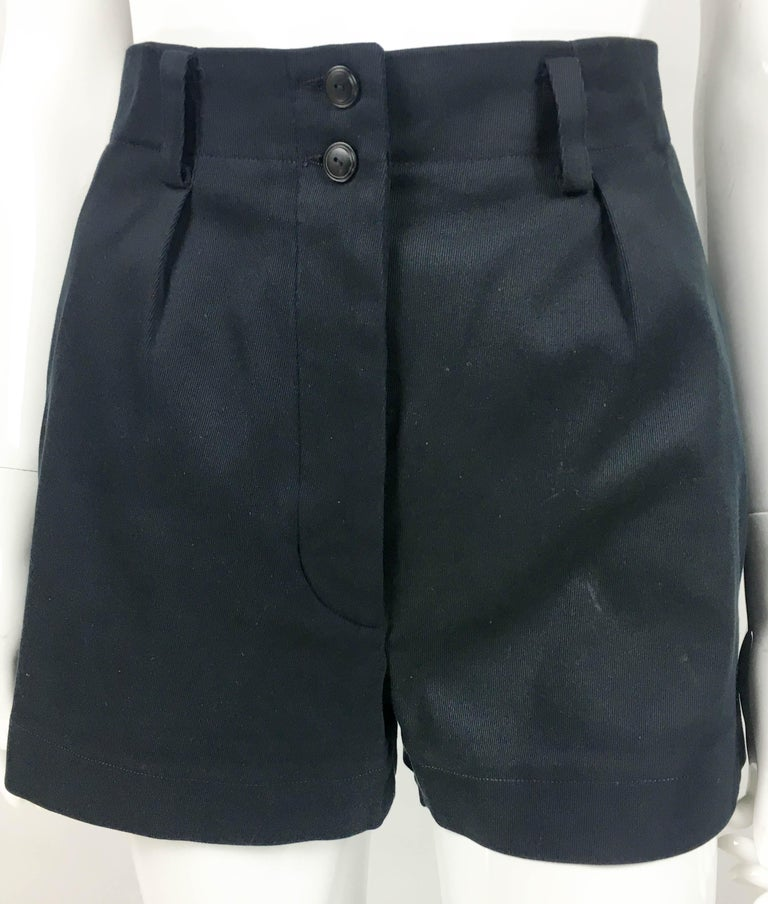 1990's Azzedine Alaia Black Tailored Shorts For Sale 2