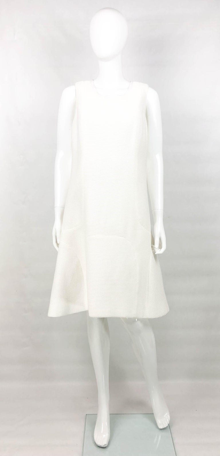 206b7bfcf69 Chanel White Waffle Cotton Dress. Made in waffle textured cotton