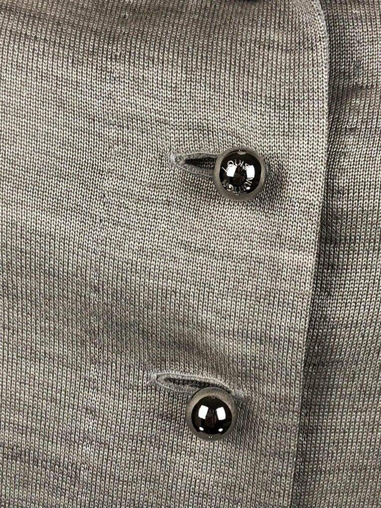 Louis Vuitton Gray Silk Jersey Shirt Dress For Sale 6