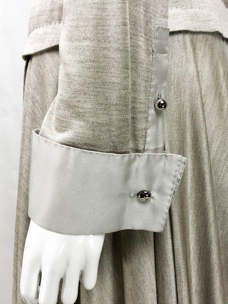 Louis Vuitton Gray Silk Jersey Shirt Dress For Sale 7