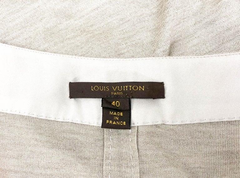 Louis Vuitton Gray Silk Jersey Shirt Dress For Sale 8