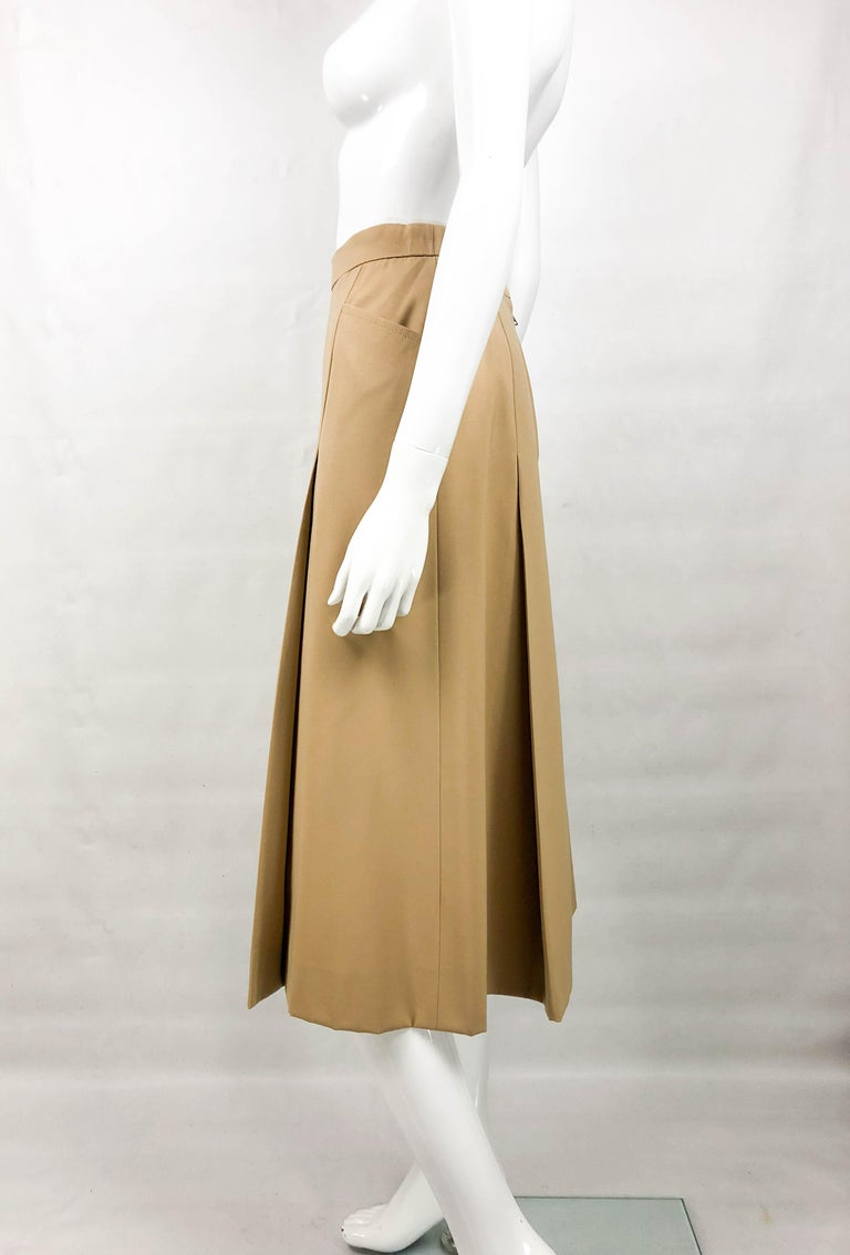 1970's Hermes Beige Wool Culottes  For Sale 5