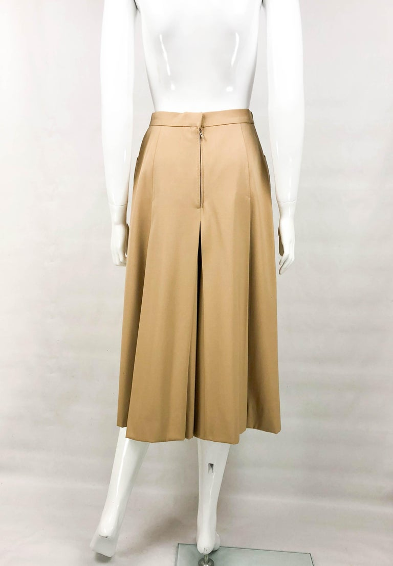 1970's Hermes Beige Wool Culottes  For Sale 6