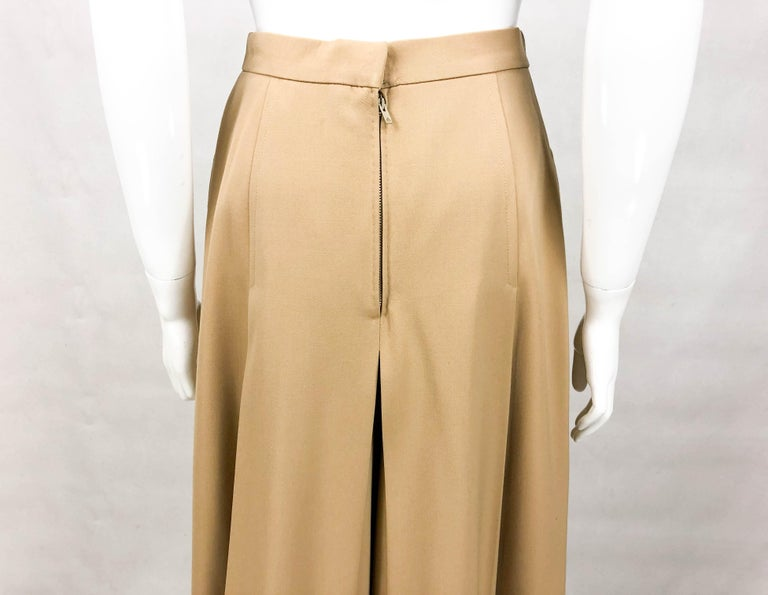 1970's Hermes Beige Wool Culottes  For Sale 7