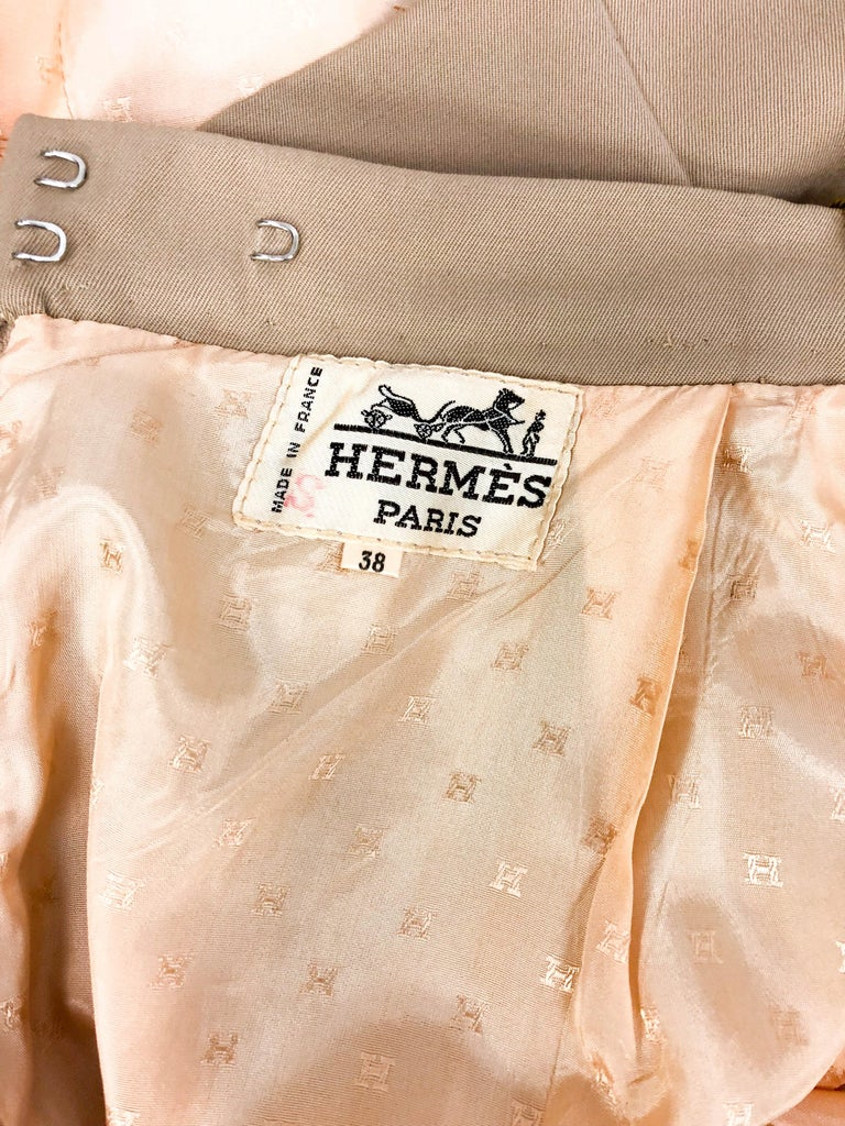 1970's Hermes Beige Wool Culottes  For Sale 8