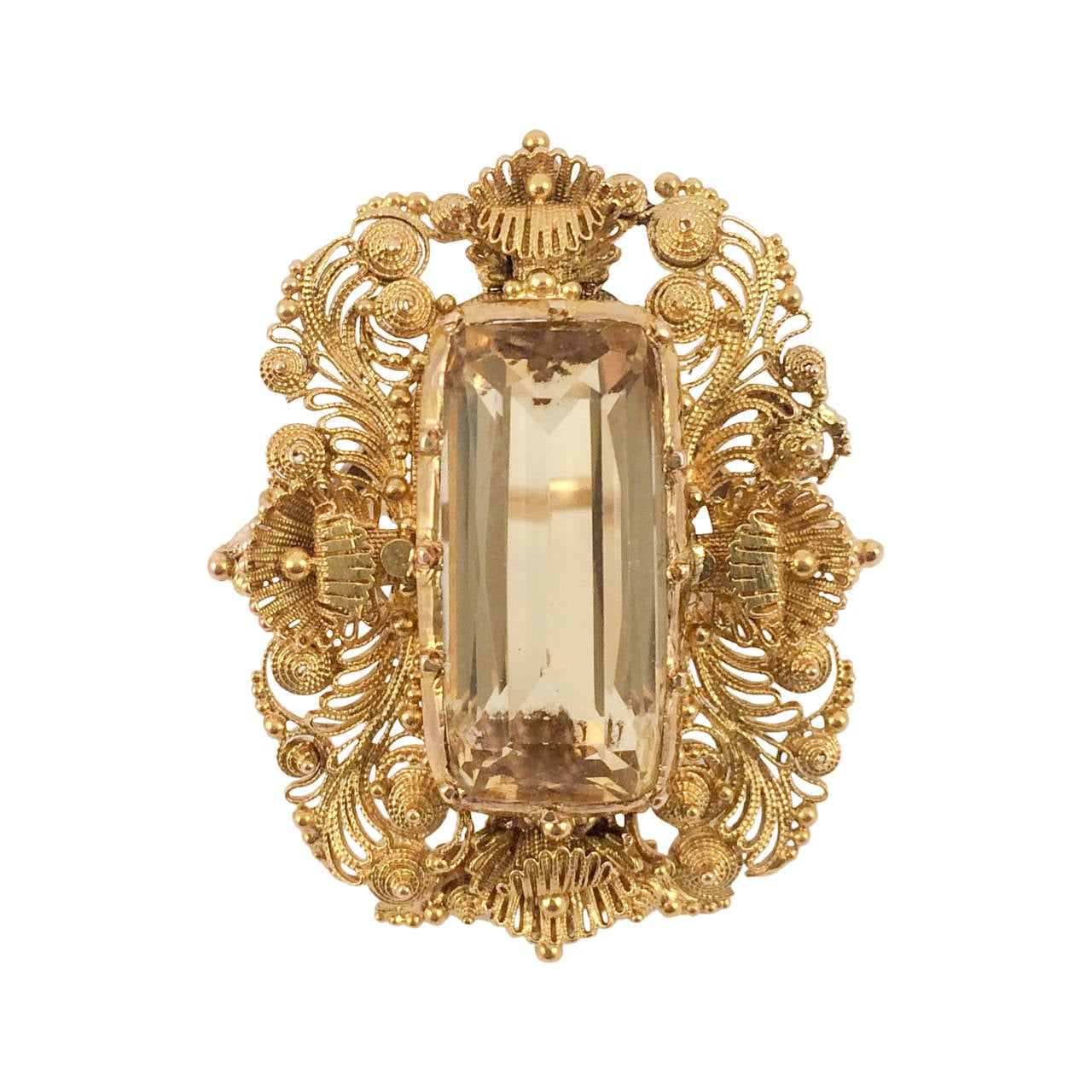 antique gold and citrine ring 1860s at 1stdibs