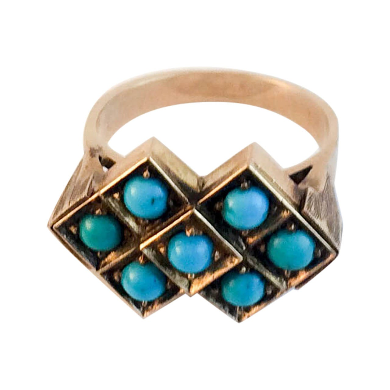 antique turquoise ring 1900s at 1stdibs