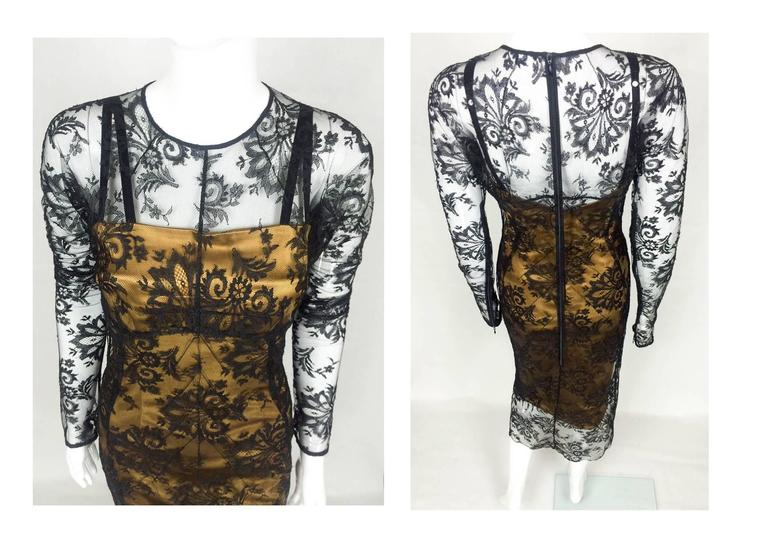Dolce and Gabbana Two-Piece Lace Dress For Sale 2