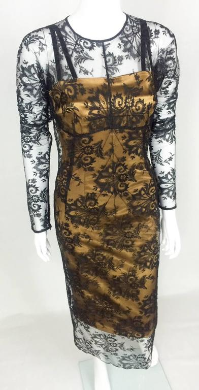 Dolce and Gabbana Two-Piece Lace Dress In Excellent Condition For Sale In London, GB