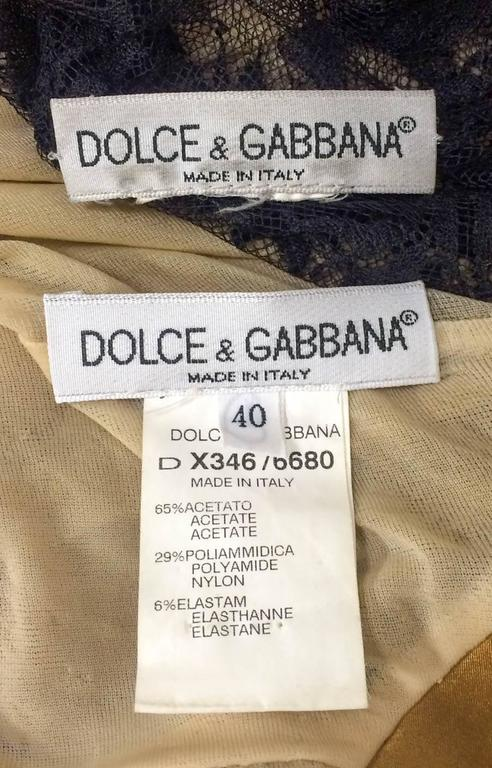 Dolce and Gabbana Two-Piece Lace Dress For Sale 5