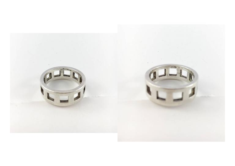 Gucci Silver Set (Bracelet and Ring) - 2000s For Sale 3