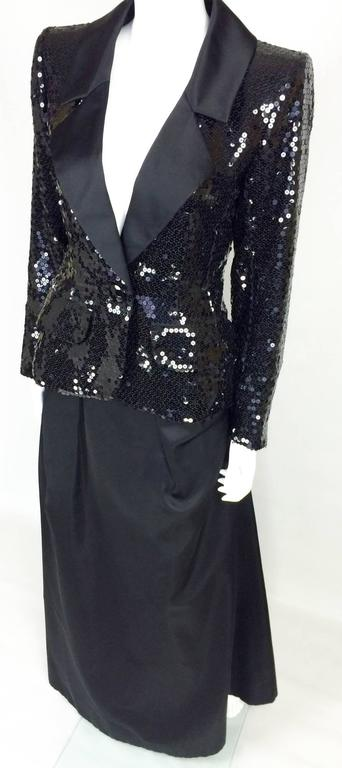 Yves Saint Laurent Le Smoking Sequin Jacket Long And