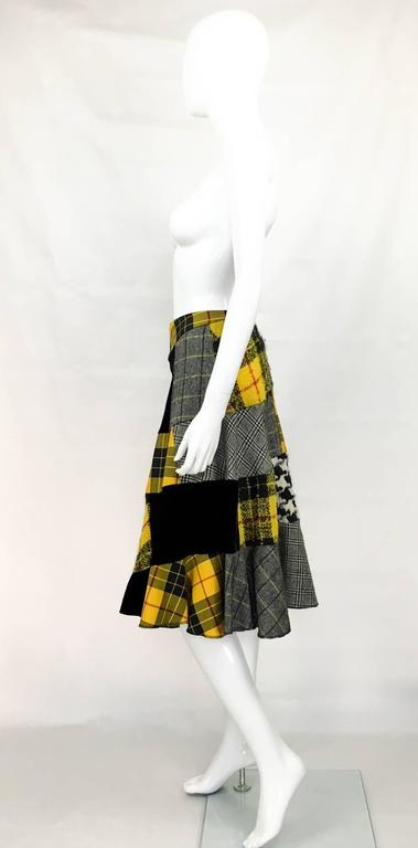 Comme des Garcons Patchwork Asymmetric Skirt - Early 1990s For Sale 1