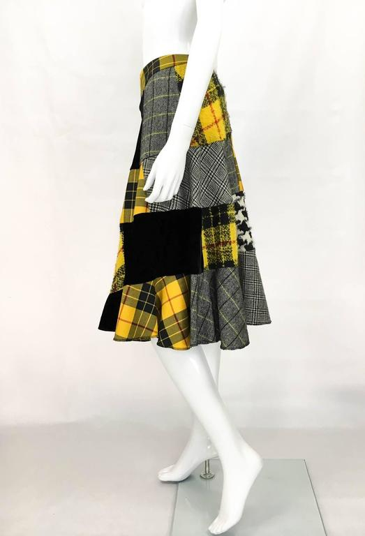 Comme des Garcons Patchwork Asymmetric Skirt - Early 1990s For Sale 2