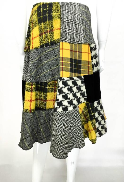 Comme des Garcons Patchwork Asymmetric Skirt - Early 1990s For Sale 3