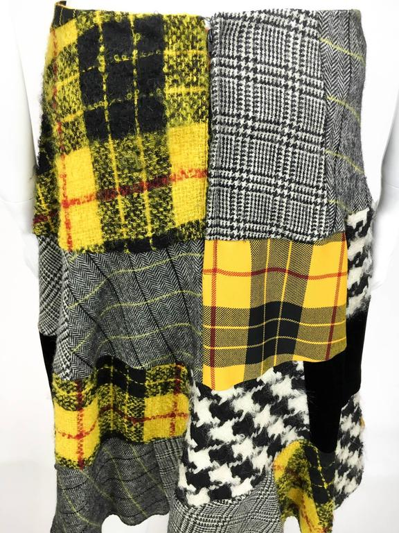 Comme des Garcons Patchwork Asymmetric Skirt - Early 1990s For Sale 4