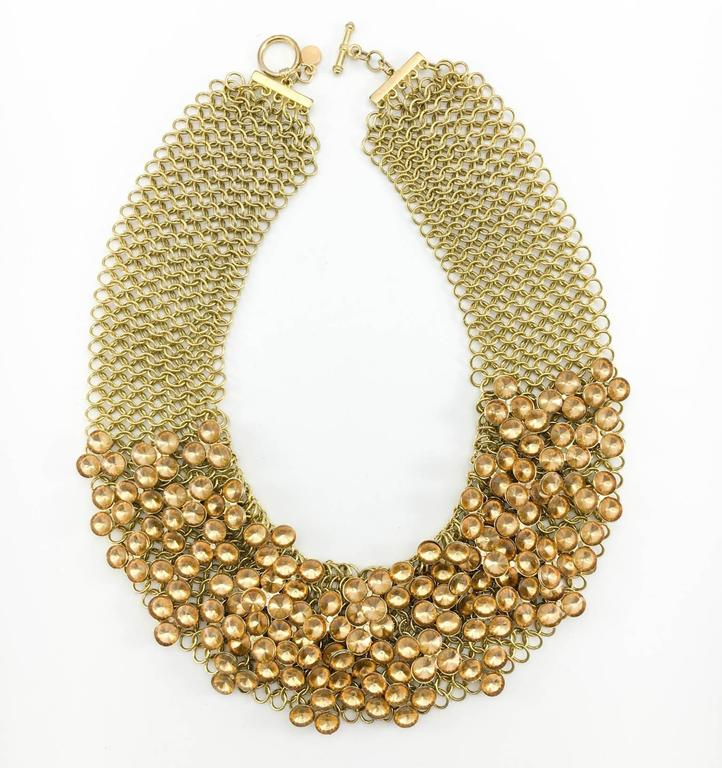 Celine Gold-Tone Beaded Necklace - 1990s 2