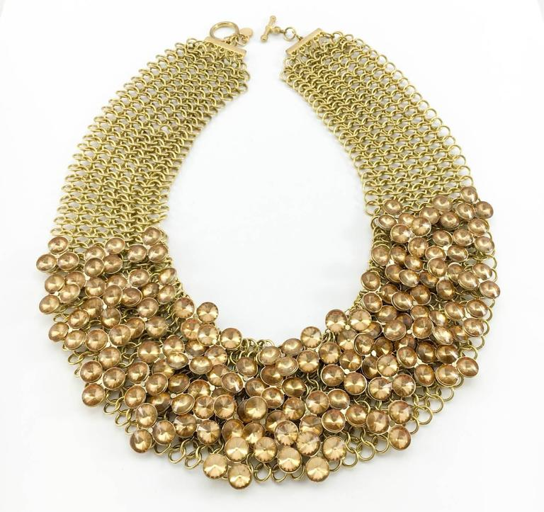 Celine Gold-Tone Beaded Necklace - 1990s 3