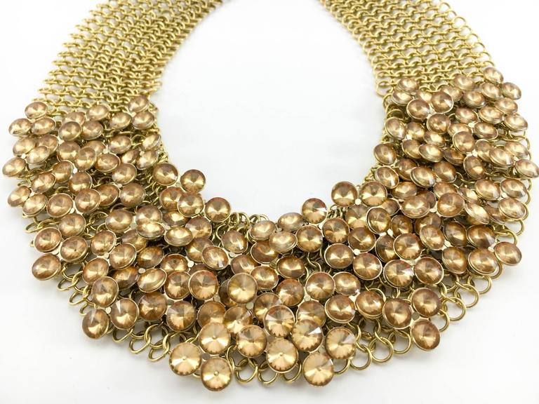 Celine Gold-Tone Beaded Necklace - 1990s 4