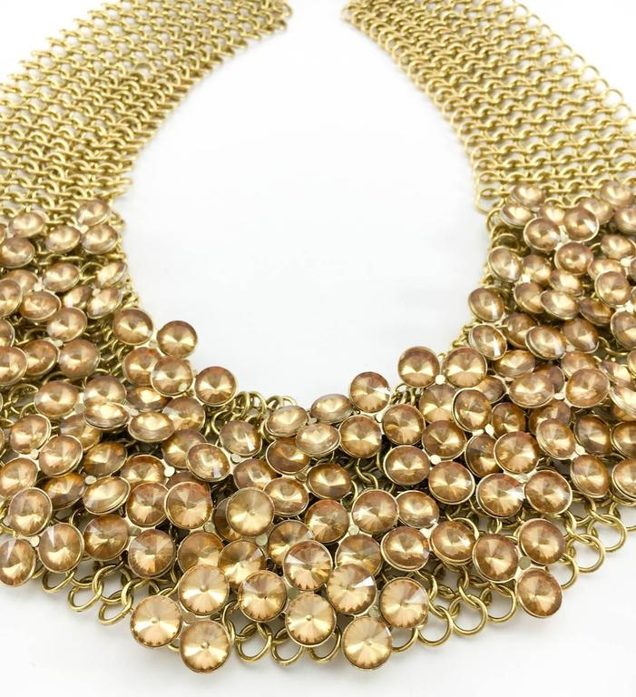 Celine Gold-Tone Beaded Necklace - 1990s 5