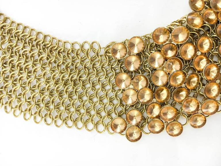 Celine Gold-Tone Beaded Necklace - 1990s 6