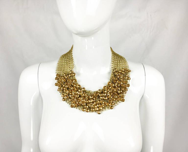 Celine Gold-Tone Beaded Necklace - 1990s 8