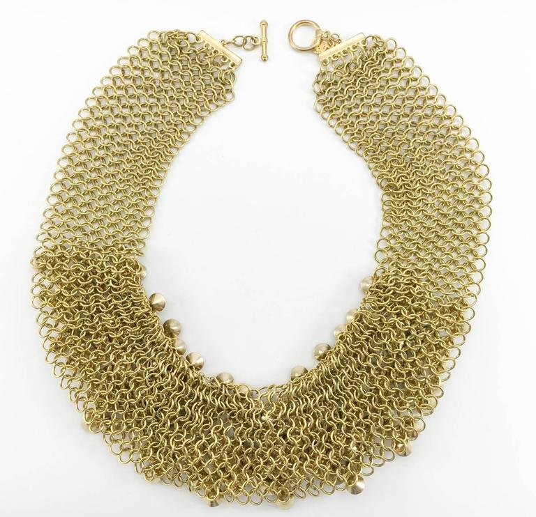 Celine Gold-Tone Beaded Necklace - 1990s 9