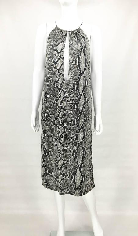 Gray Gucci by Tom Ford Runway Python Print Dress - Circa 2000 For Sale