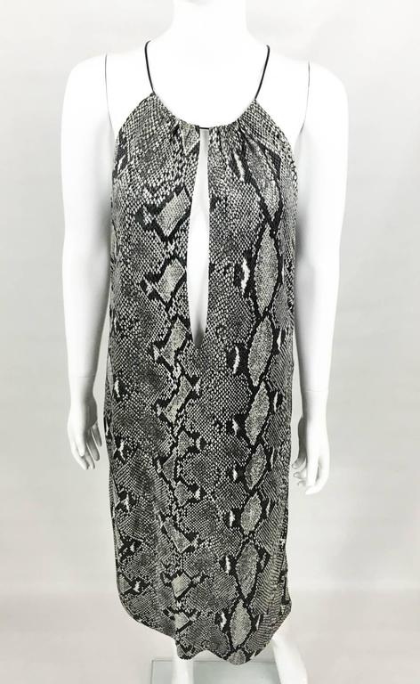 Gucci by Tom Ford Runway Python Print Dress - Circa 2000 In Excellent Condition For Sale In London, Chelsea