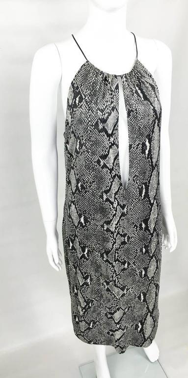 Women's Gucci by Tom Ford Runway Python Print Dress - Circa 2000 For Sale