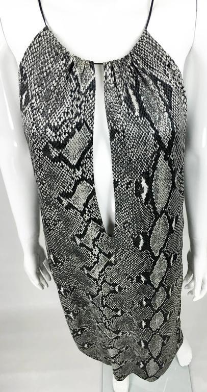 Gucci by Tom Ford Runway Python Print Dress - Circa 2000 For Sale 1