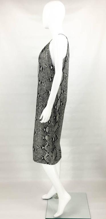 Gucci by Tom Ford Runway Python Print Dress - Circa 2000 For Sale 2