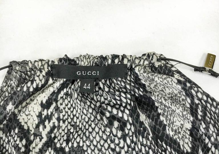 Gucci by Tom Ford Runway Python Print Dress - Circa 2000 For Sale 5