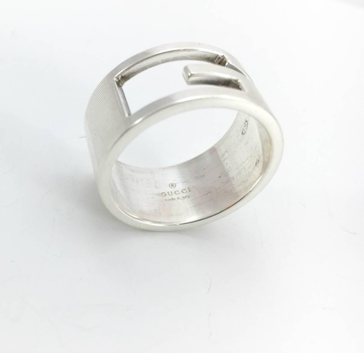 gucci silver s ring for sale at 1stdibs