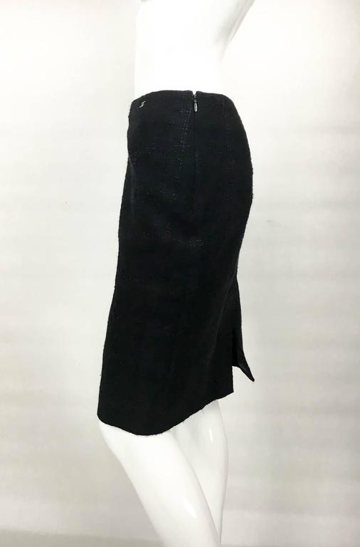 Women's Chanel Black Boucle Skirt For Sale