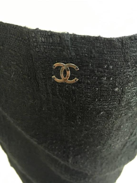 Chanel Black Boucle Skirt For Sale 2