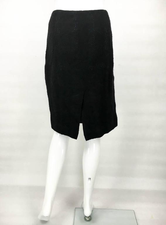 Chanel Black Boucle Skirt For Sale 4