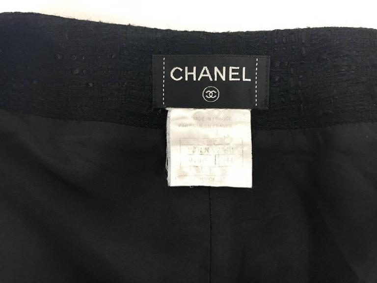 Chanel Black Boucle Skirt For Sale 5