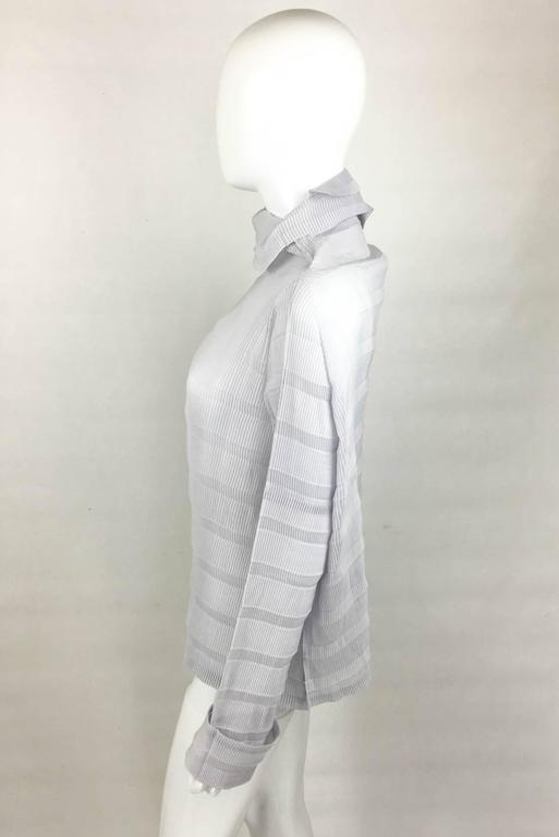 Women's Issey Miyake Pleated Pale Lavender Top - 2009 For Sale