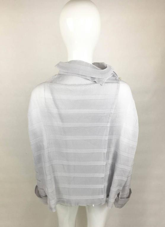 Issey Miyake Pleated Pale Lavender Top - 2009 For Sale 1