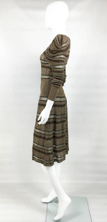 Kenzo Lurex Sheer Knitted Dress - 1990s 7