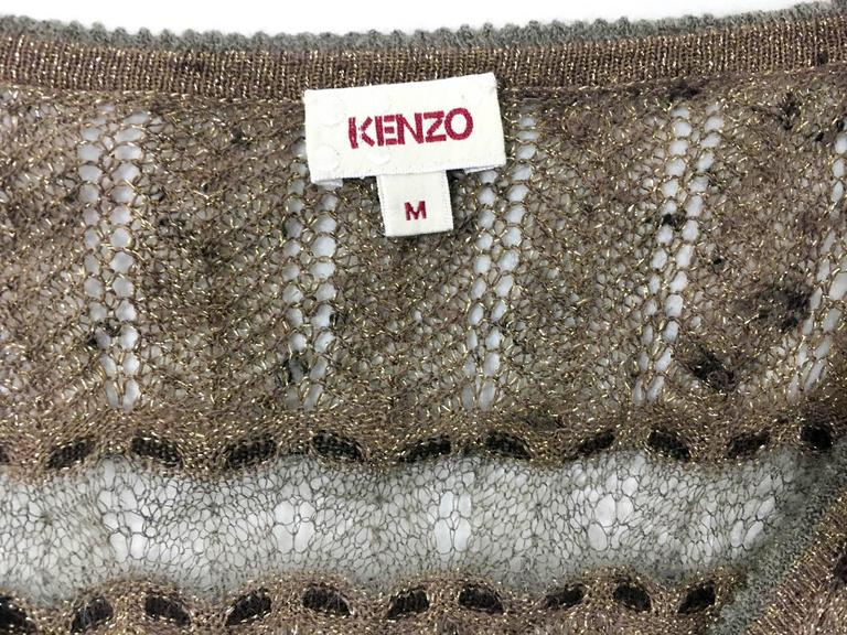 Kenzo Lurex Sheer Knitted Dress - 1990s 10